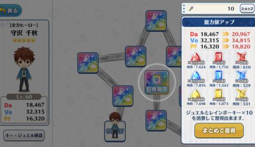 【あんスタ】レインボーロードに必要なジュエル数とレア度別ステータスアップ